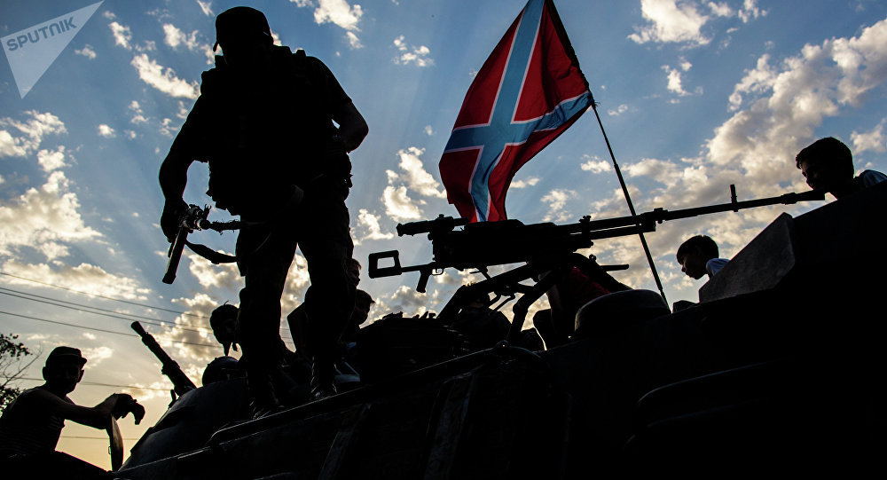 Independentistas de Donbass no leste da Ucrânia