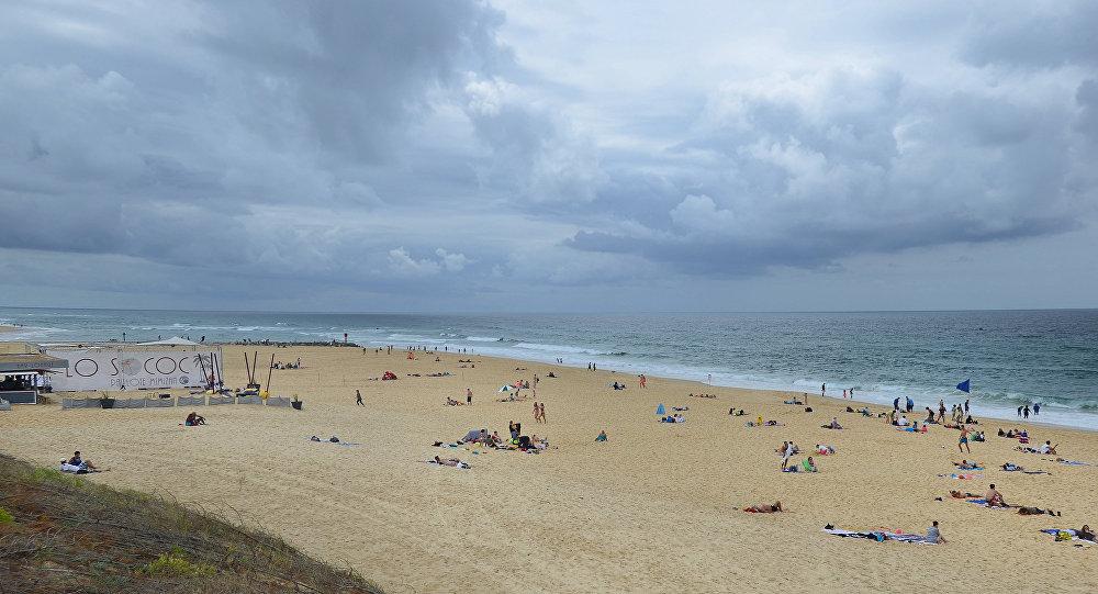 Uma praia da comuna francesa de Mimizan