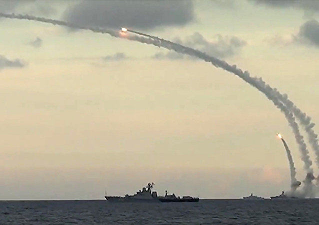 Navios russos atacam posições de terroristas na Síria, foto de arquivo