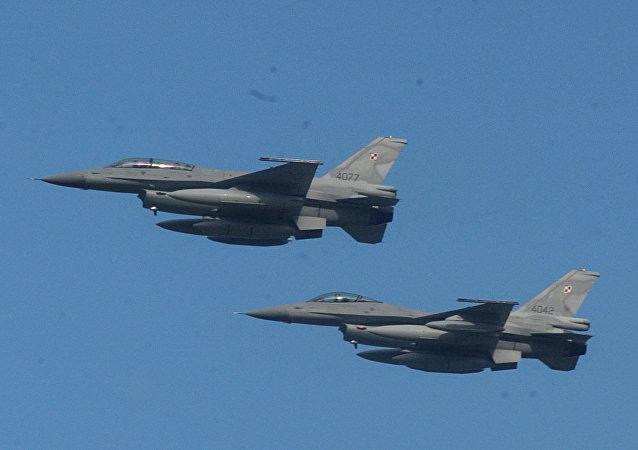 Caças F-16, foto de arquivo