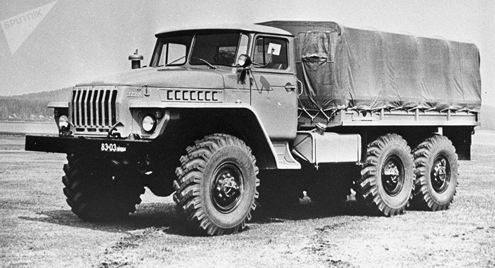 Ural 4320, caminhão soviético, foto de arquivo