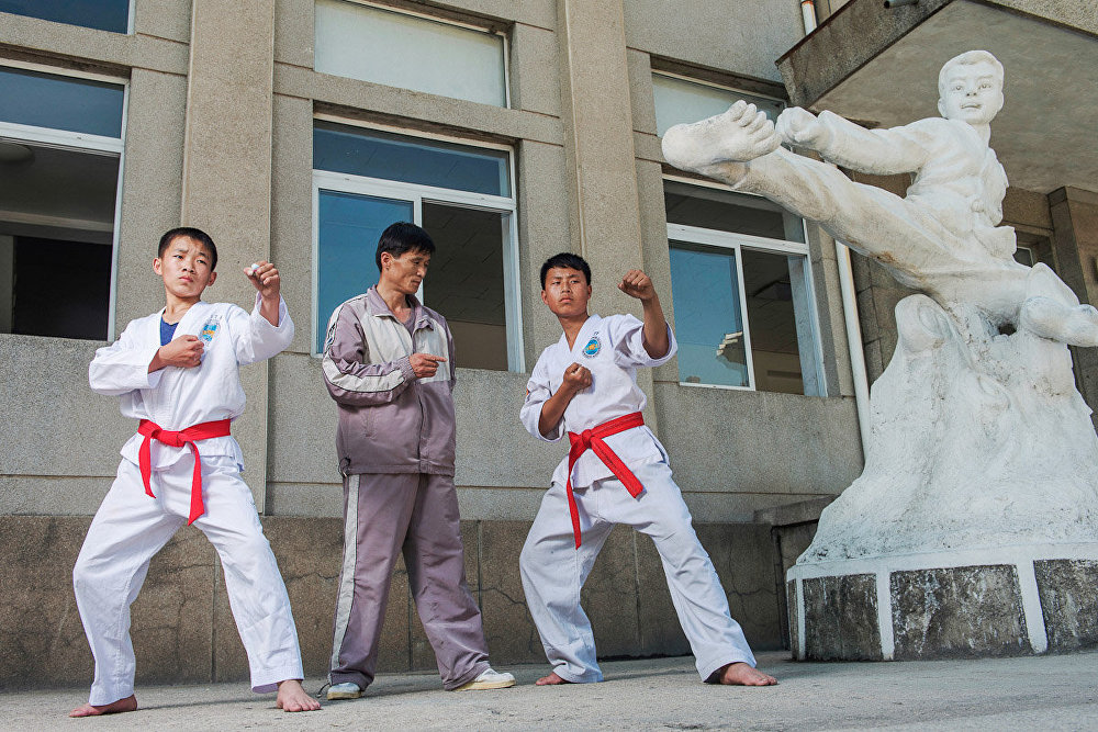 Matjaz Tancic, 3DPRK: Retratos da Coreia do Norte, Aula de taekwondo, Coreia do Norte, 2014