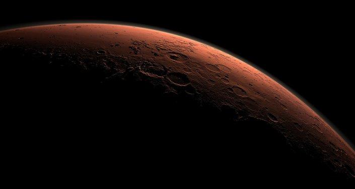 Imagem computorizada de Marte