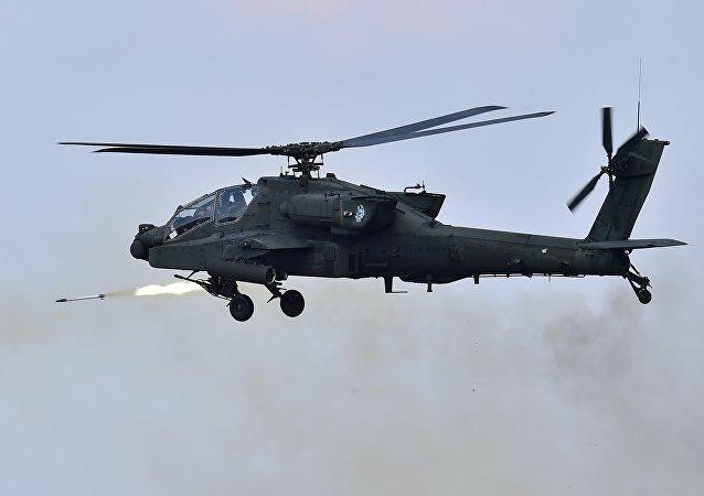 O helicóptero norte-americano AH-64 Apache