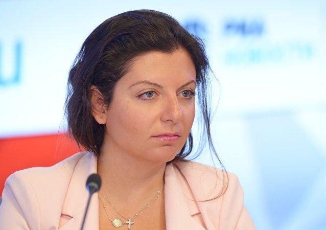 A editora-chefe da Sputnik e da RT, Margarita Simonya