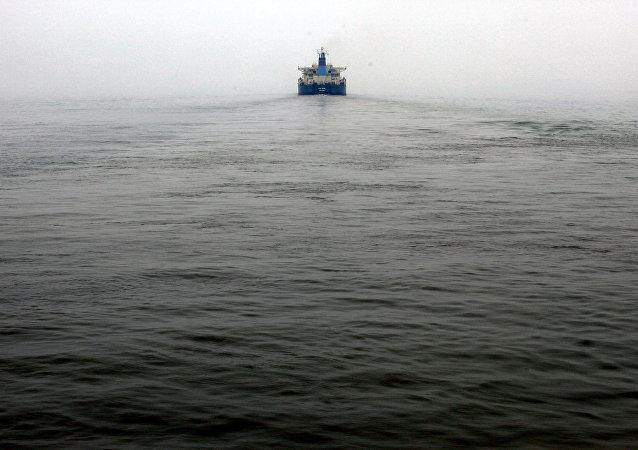 Navio-tanque chinês, foto de arquivo