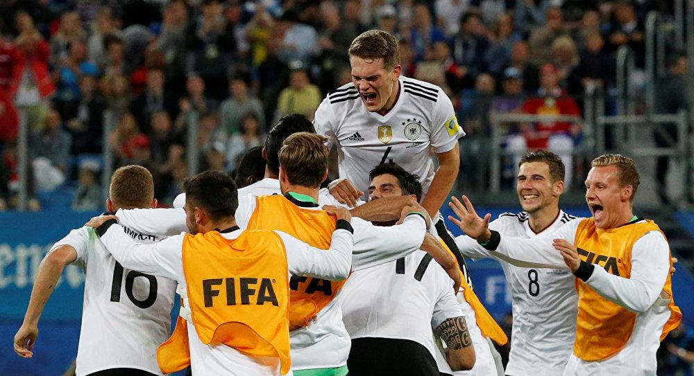 Alemães comemoram o título