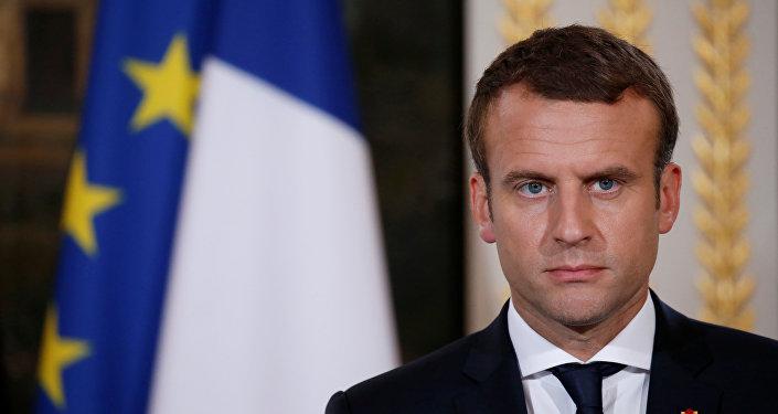 O atual presidente da França, Emmanuel Macron