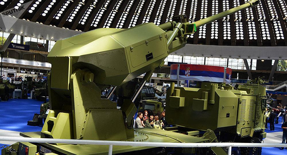 O novo sistema de artilharia Aleksandar