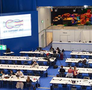 Centro de imprensa da сúpula do G20, Hamburgo