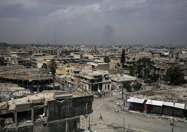 A cidade iraquiana de Mossul, uma das maiores do país, destruída pela guerra
