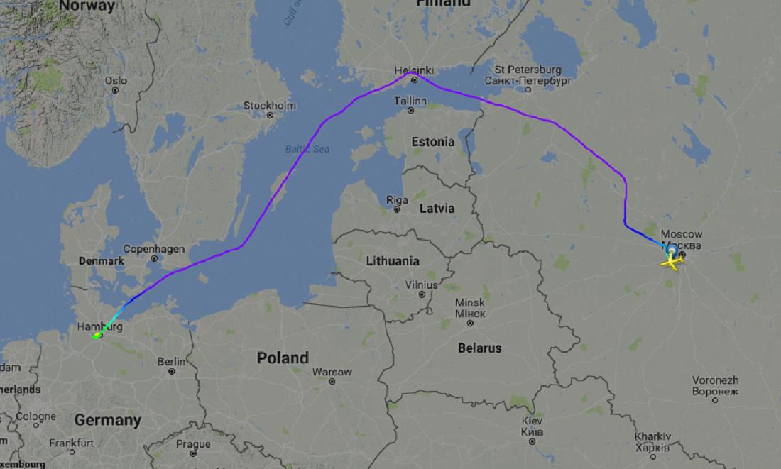Aeronave de Vladimir Putin evita sobrevoar países do Báltico e Polônia ao viajar para a cúpula do G20 em Hamburgo