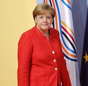 Angela Merkel durante a cúpula do G20 em Hamburgo