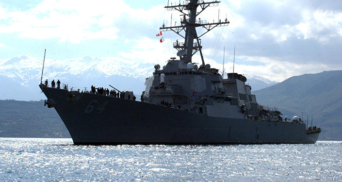 Destróier norte-americano USS Carney, foto de arquivo