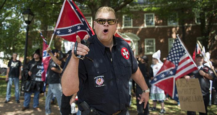 Membro do grupo KKK