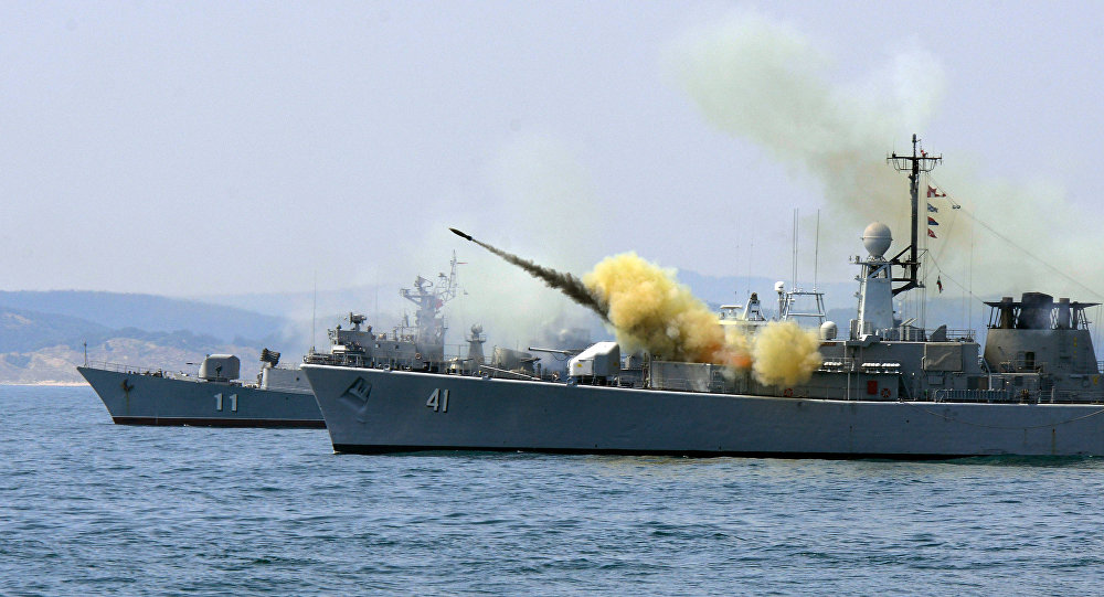 Exercícios Sea Breeze de 2014, marinha da Bulgária dispara míssil