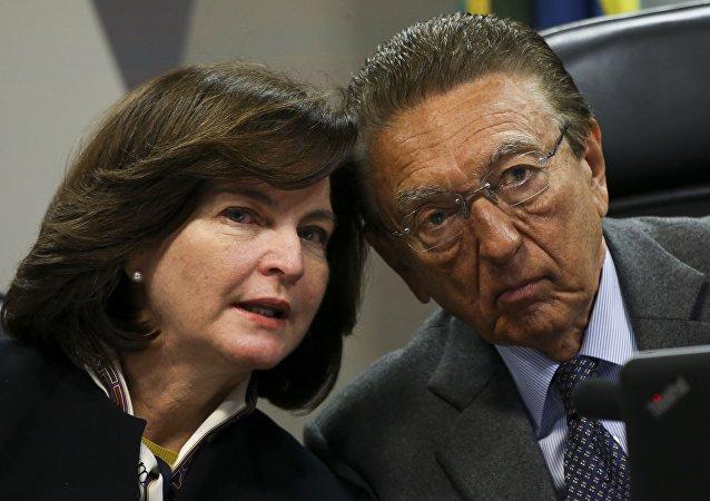 Ao lado de Edson Lobão, Raquel Dodge é sabatinada na comissão do Senado