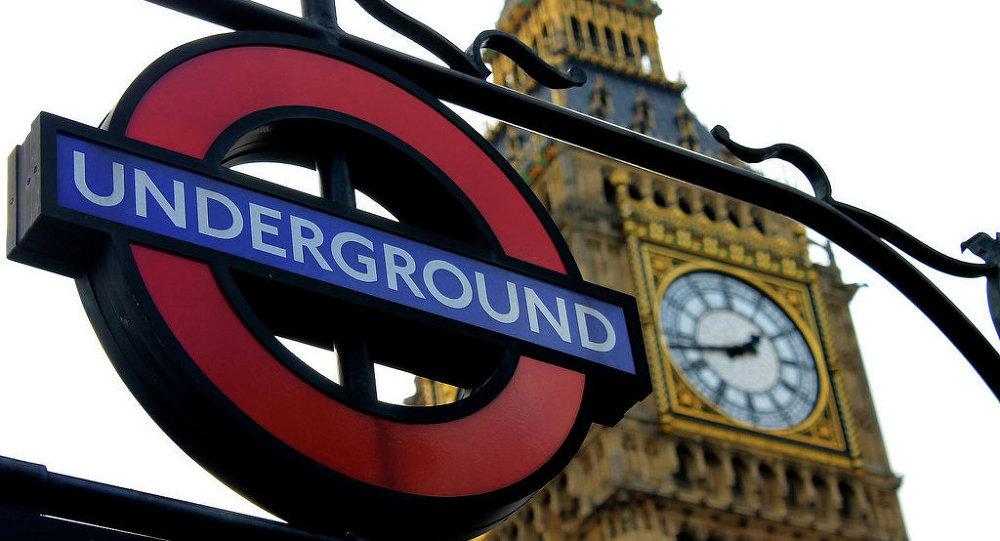 Logotipo do metrô de Londres, no Reino Unido.