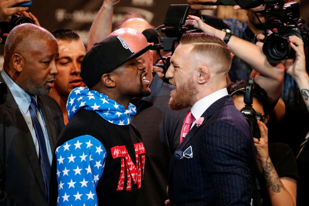 Boxeadores Floyd Mayweather e Conor McGregor