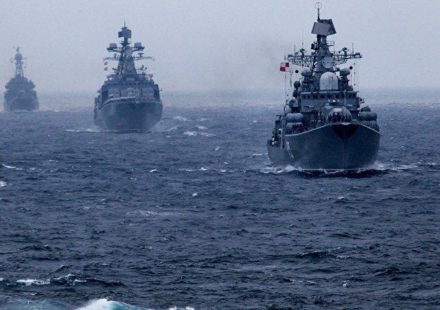 Cooperação Marítima, os exercícios conjuntos da Rússia e China