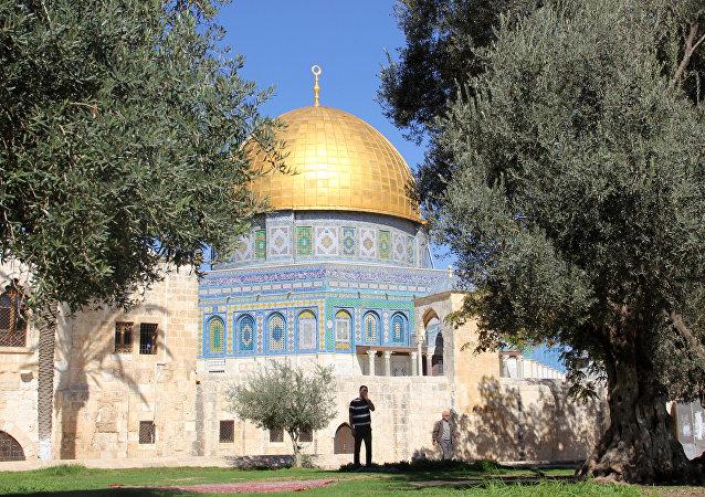 Monte do Templo, na Cidade Velha de Jerusalém