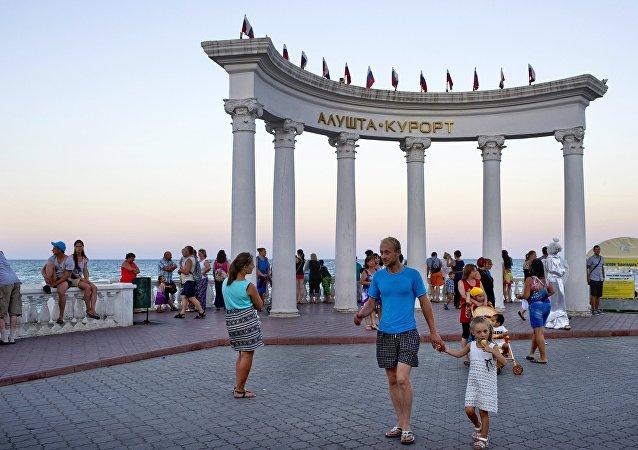 Turistas na Crimeia