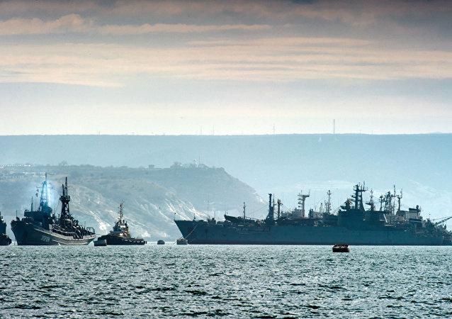 Navios da Frota do Mar Negro da Marinha russa, foto de arquivo