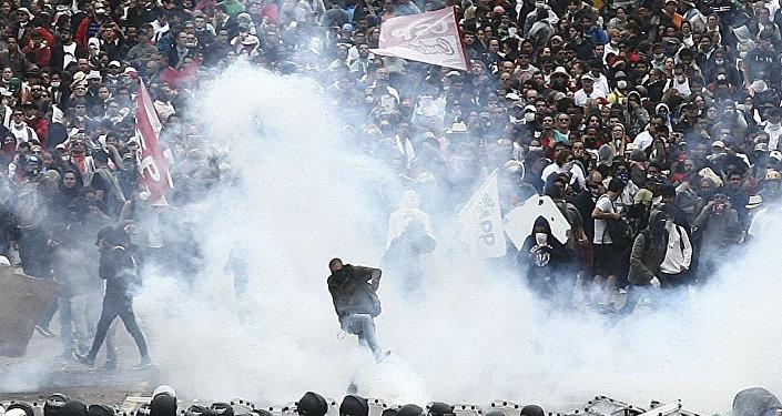 Protesto do professores em Curitiba, em 29 de abril de 2015