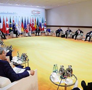 Encontro dos líderes do BRICS antes da cúpula do G20, em Hamburgo (foto de arquivo)