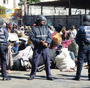 Guarda Civil Metropolitana de São Paulo na Cracolândia, entre a Avenida Cleveland e rua Helvétia