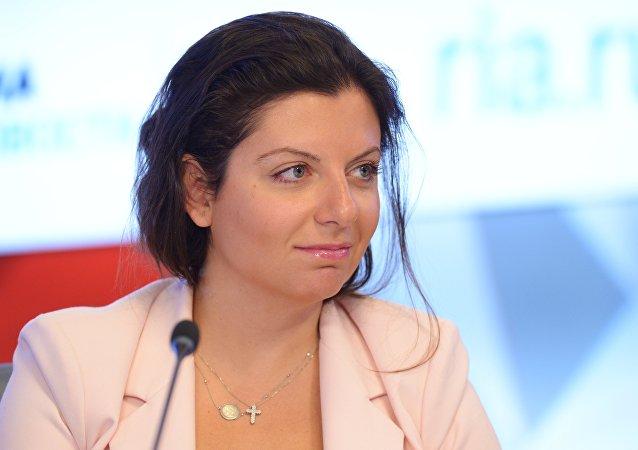 Margarita Simonyan, editora-chefe da Sputnik e RT, foto de arquivo