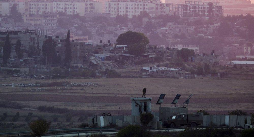 Fronteira entre Israel e Faixa de Gaza, na Palestina