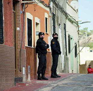 Guardas espanhóis na cidade de Melilha, fronteira no Norte da África (foto de arquivo)
