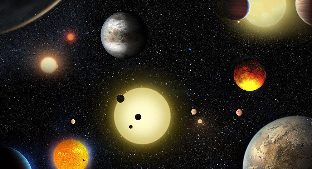 Planetas no espaço