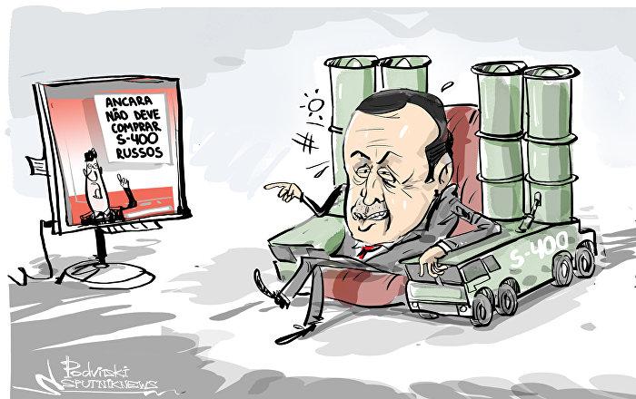 S-400 russos protegendo e sendo protegido por Erdogan