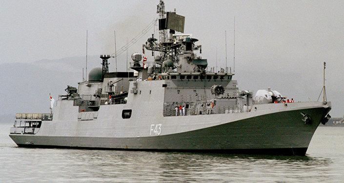 Navio militar indiano (foto de arquivo)