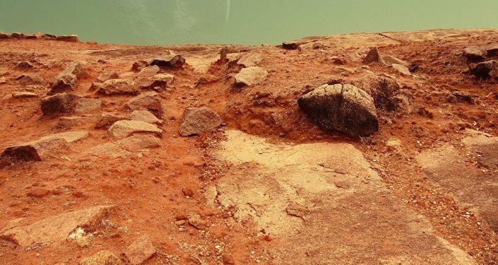A superfície de Marte (ilustração)
