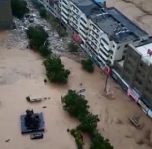 Correntes de sujeira infestam toda uma cidade chinesa