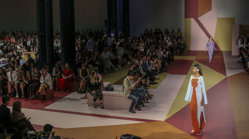 Modelos durante a apresentação da empresa colombiana Pepa Pombo, no âmbito da semana Colombiamoda 2017, em Medellín