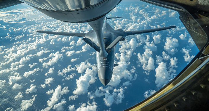 Imagem de um dos bombardeiros B-1B Lancer dos EUA