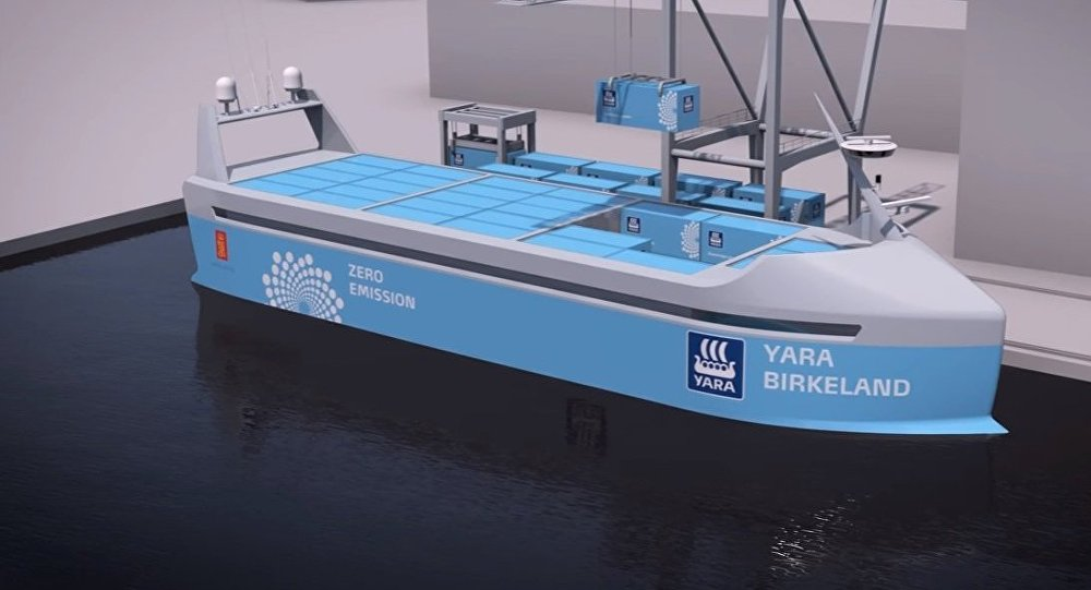 Yara Birkeland, navio cargueiro porta-contêineres robótico
