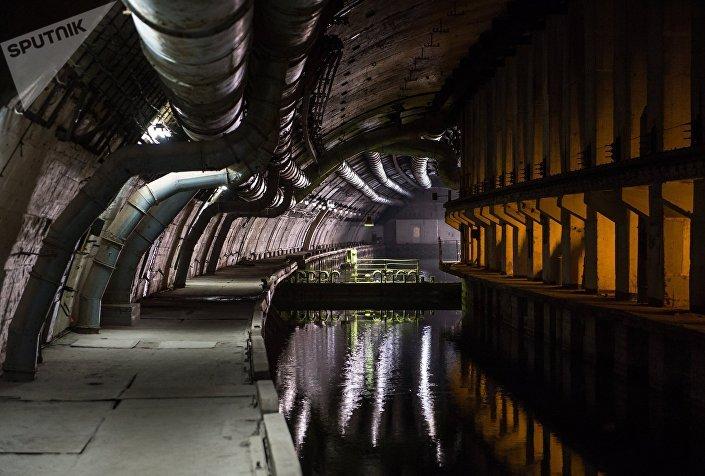A base submarina subterrânea de Balaklava