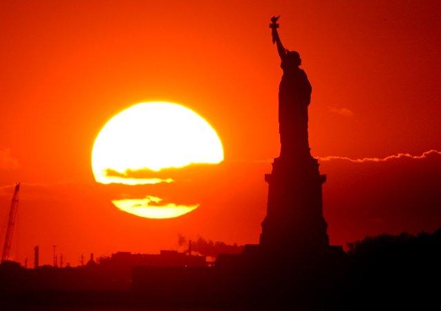 Estátua da Liberdade em Nova York, foto de arquivo