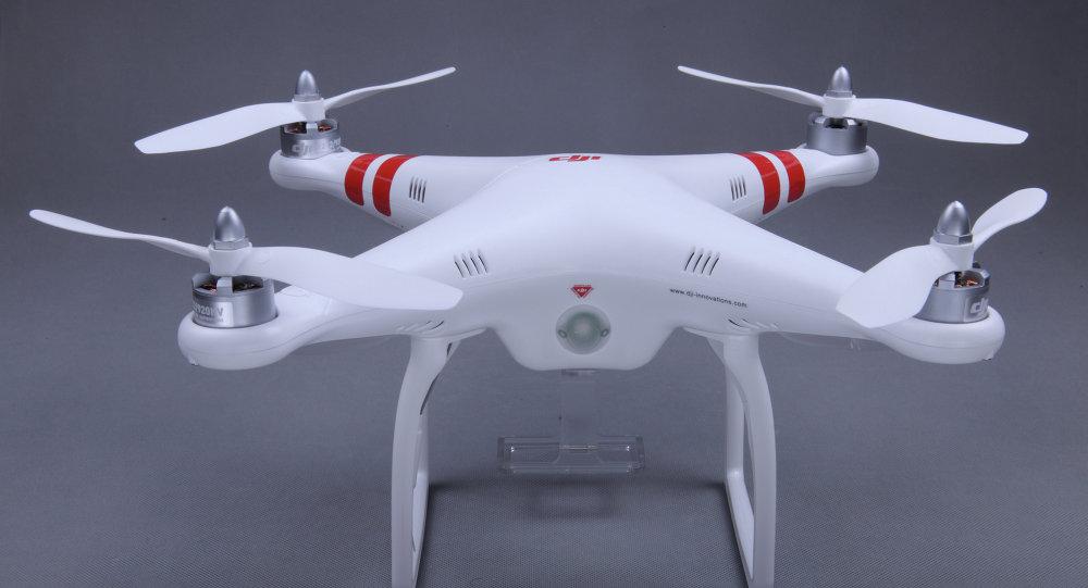 Um drone Phantom da empresa chinesa DJI