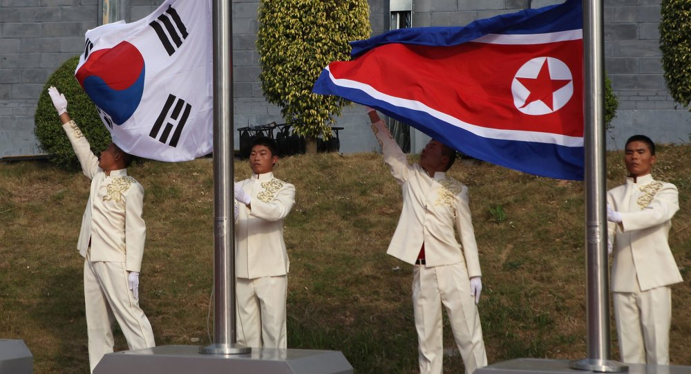 Bandeiras de China, Coreia do Sul e Coreia do Norte