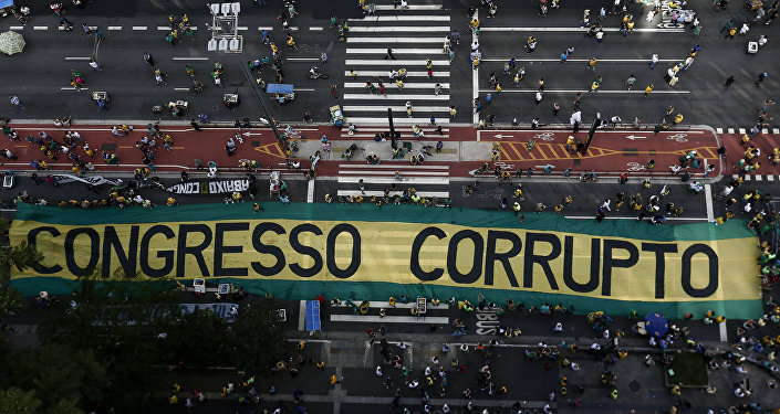 Manifestação na Avenida Paulista, em dezembro de 2016