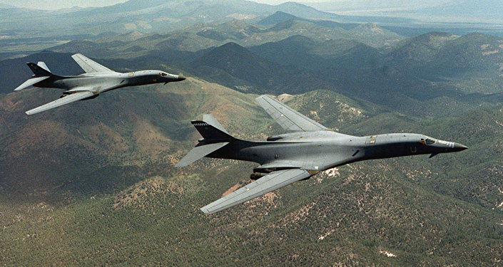 Os bombardeiros B-1B Lancer dos EUA