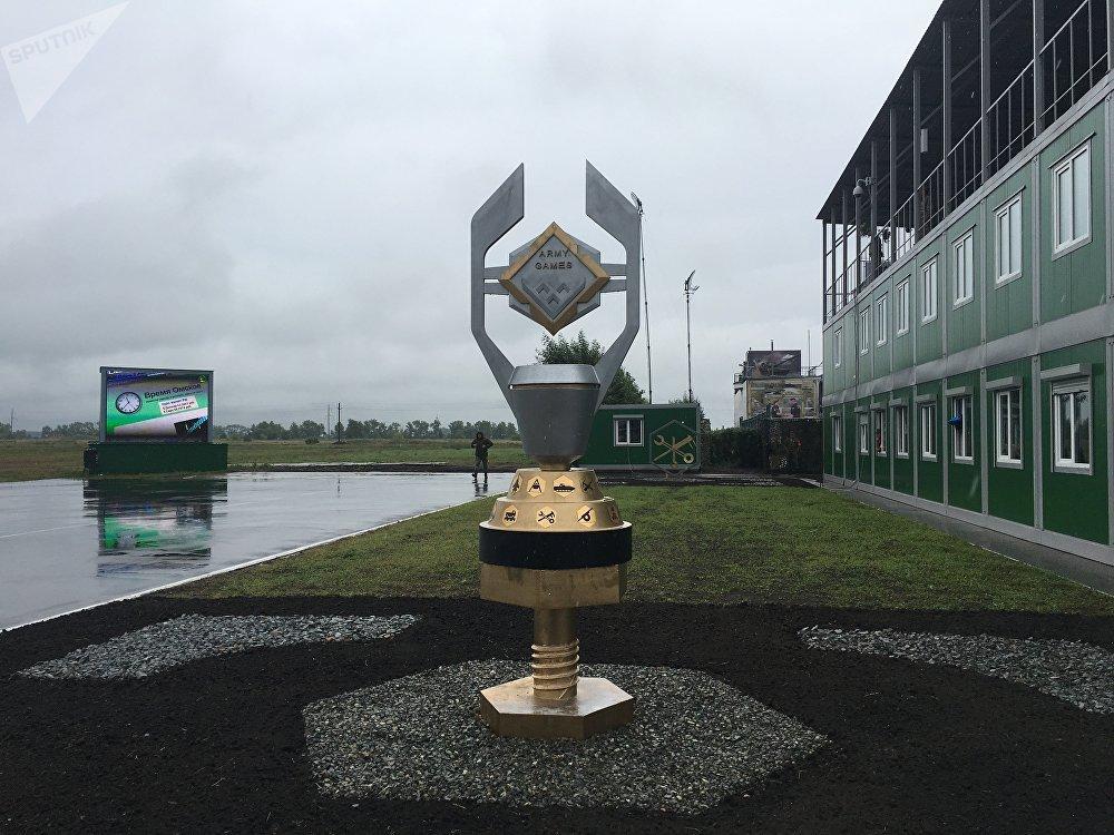 O polígono do Instituto de Engenharia de Veículos Blindados de Omsk