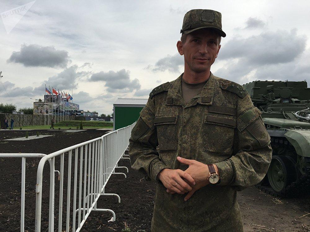 Aleksei Panin, comandante da equipe russa no concurso Rembat 2017