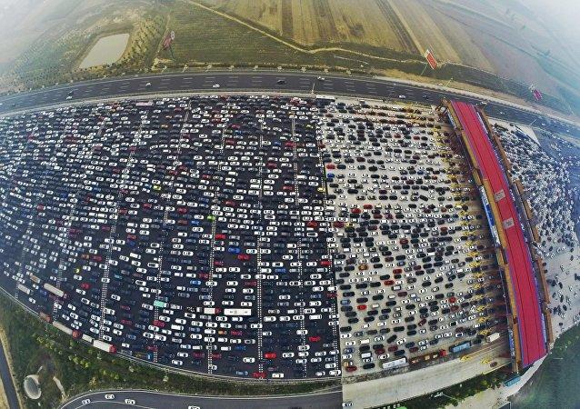 Engarrafamento na China, Pequim (Arquivo)